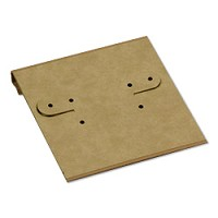 Earring Card 2x2 Kraft Paper (100pcs)