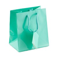 Tote Bag Small Glossy Teal Blue (Each)