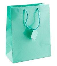 Tote Bag Large Glossy Teal Blue (Each)