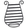 Harp Earring Display Black Chrome