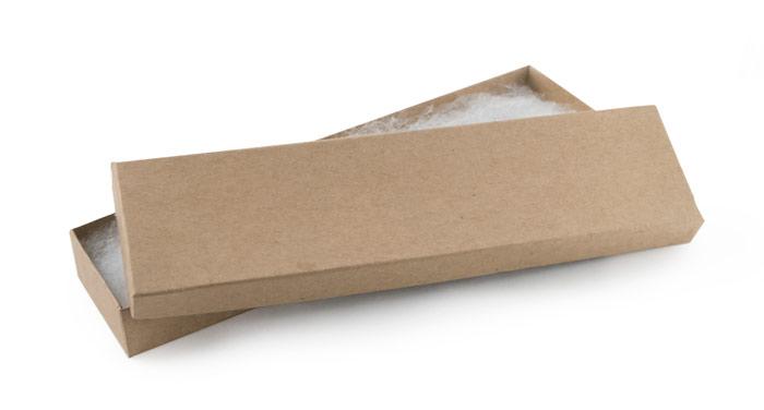 Kraft Paper Cotton Filled Jewelry Box K82 large cotton filled