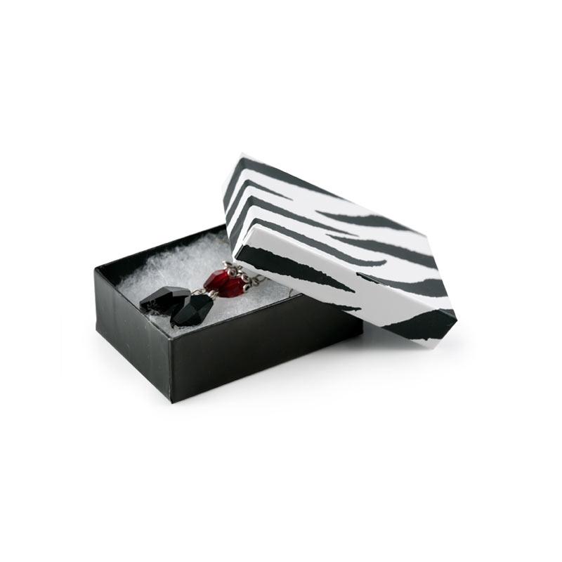Zebra Paper Cotton Filled Jewelry Box Z32 wholesale jewelry boxes