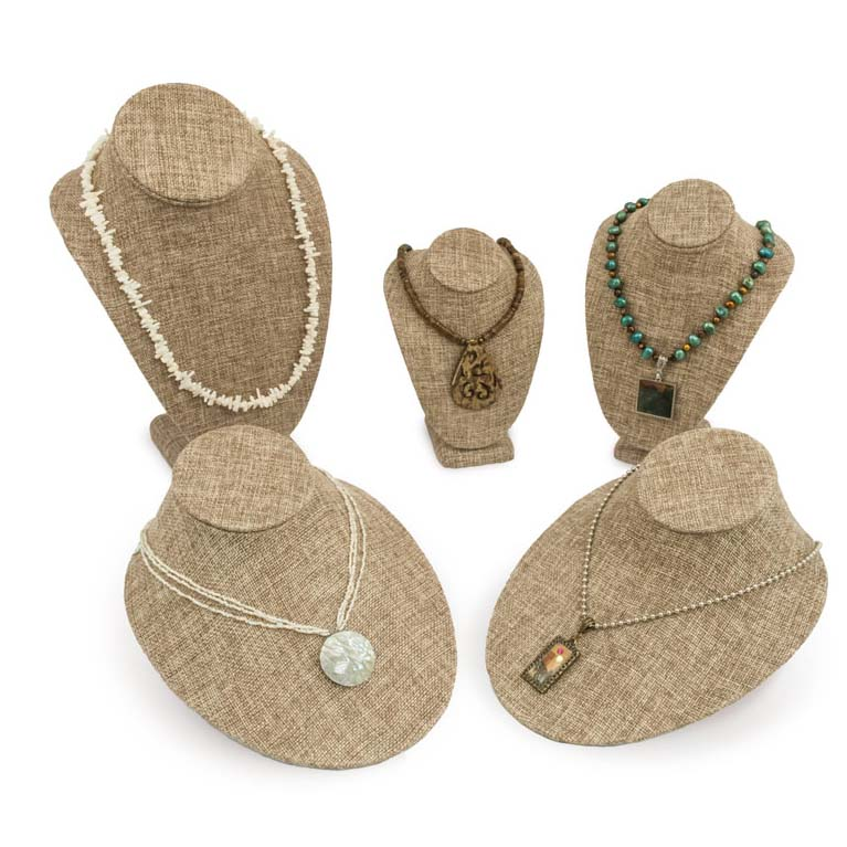 Burlap Jewelry Displays