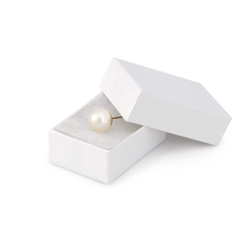 White Jewelry Gift Boxes Cotton Filled 10