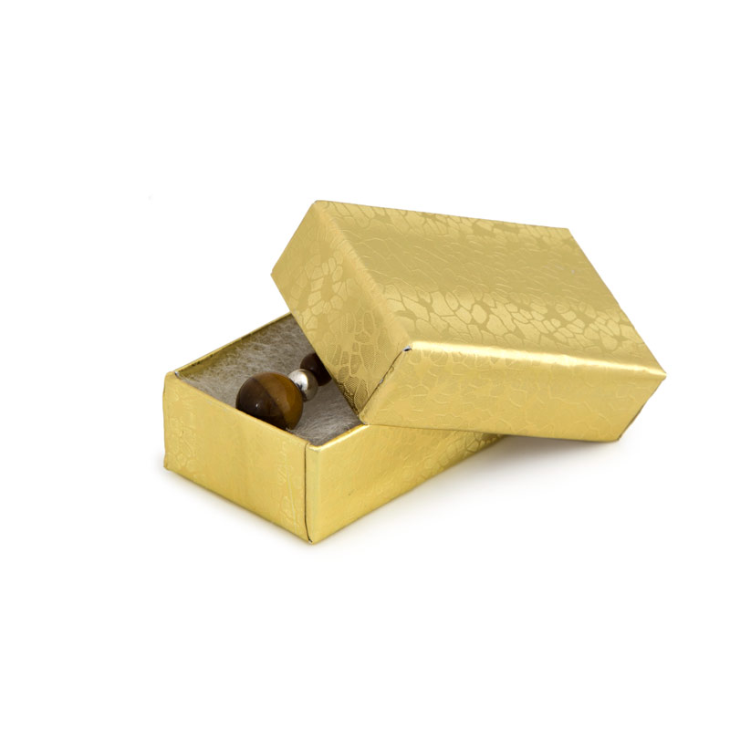 Gold Foil Cotton Filled Jewelry Box 10