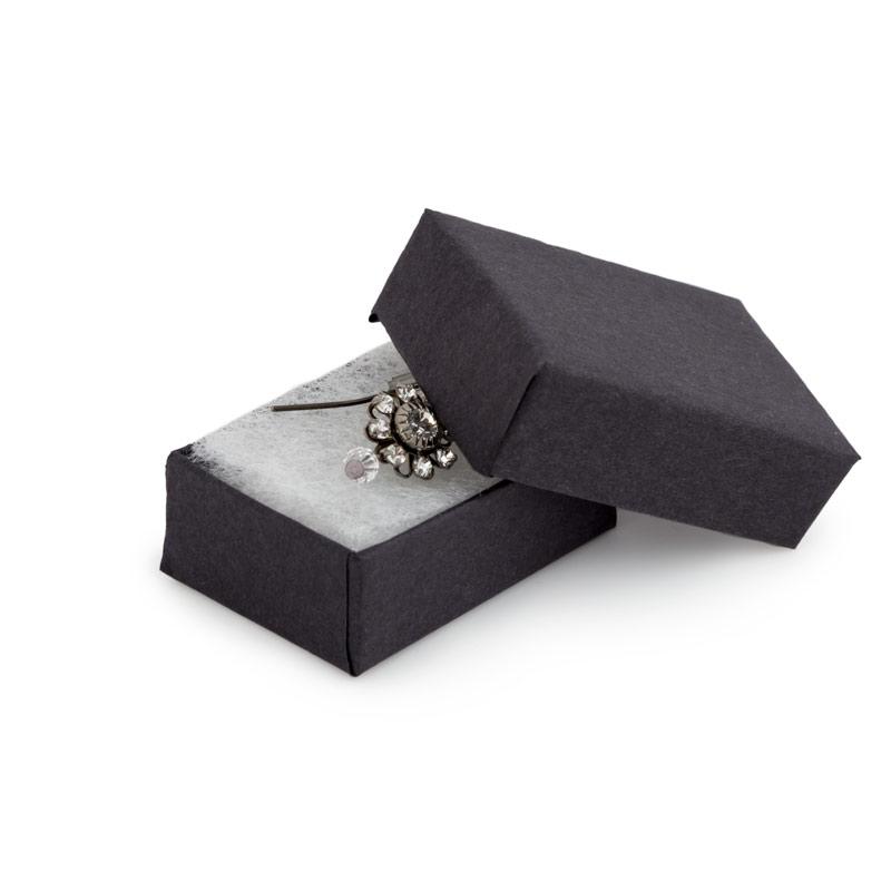 Black Matte Cotton Filled Jewelry Box 10