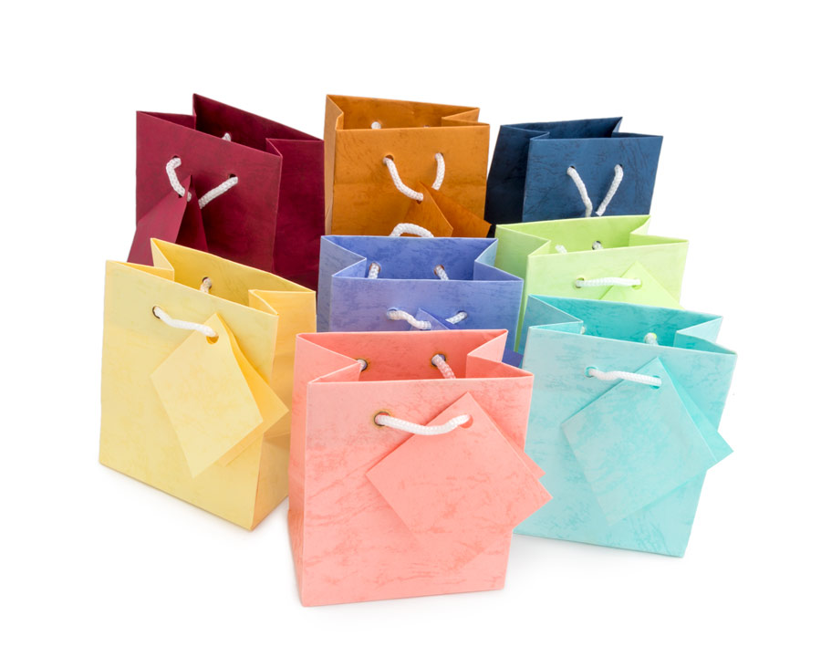 Tote Bags Mini Assorted Pastel Wholesale Tote Gift Bags
