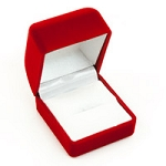 Small Flocked Red Ring Box