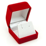 Small Flocked Red Earring Box