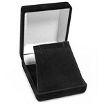 Flocked Black Pendant or Earring Box