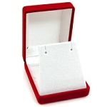 Flocked Red Pendant or Earring Box