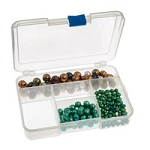 Clear Plastic Small 5 Compartment Jewelry Organizer