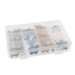 Clear Plastic Rectangular 10 Compartment Jewelry Organizer