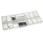Clear Plastic Rectangular 14 Compartment Jewelry Organizer