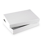 White Jewelry Gift Boxes Cotton Filled #53