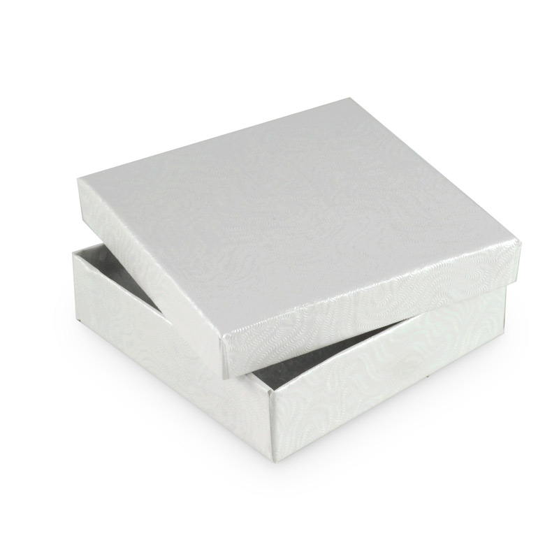 White Jewelry Gift Boxes Cotton Filled W33 Cotton Filled Jewelry Gift Boxes Wholesale And Bulk