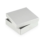 White Jewelry Gift Boxes Cotton Filled #33