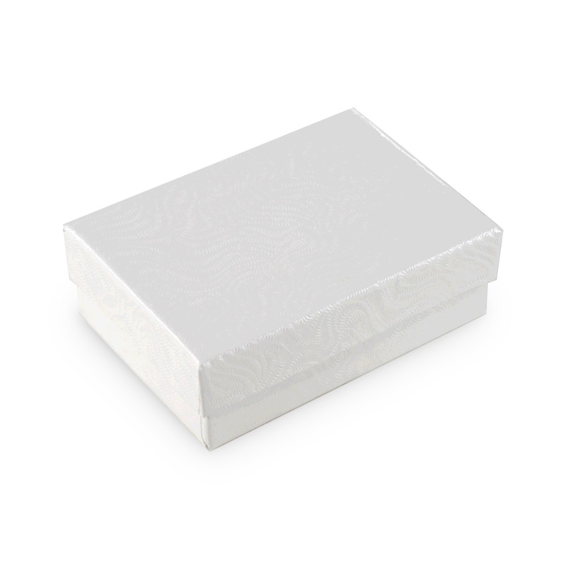 White Jewelry Gift Boxes Cotton Filled W32 small jewelry boxes