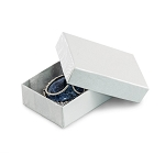 White Jewelry Gift Boxes Cotton Filled #11
