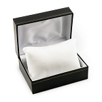 Black Watch Box with White Pillow 3x4