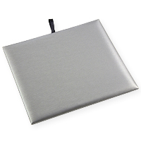 Steel Grey Leatherette 1/2 Size Jewelry Display Pad