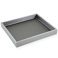 Jewelry Tray Half-Size Steel Grey Leatherette