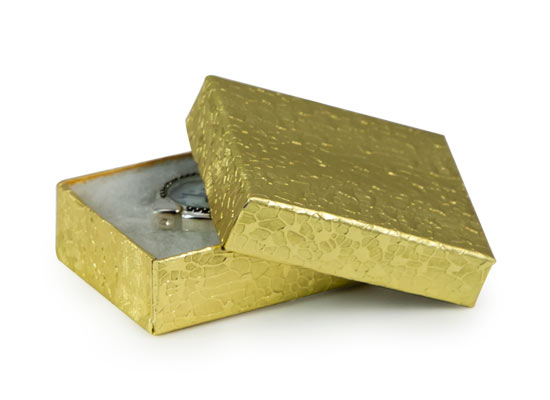 Gold Foil Jewelry Box G11 jewelry boxes wholesale usa Only at