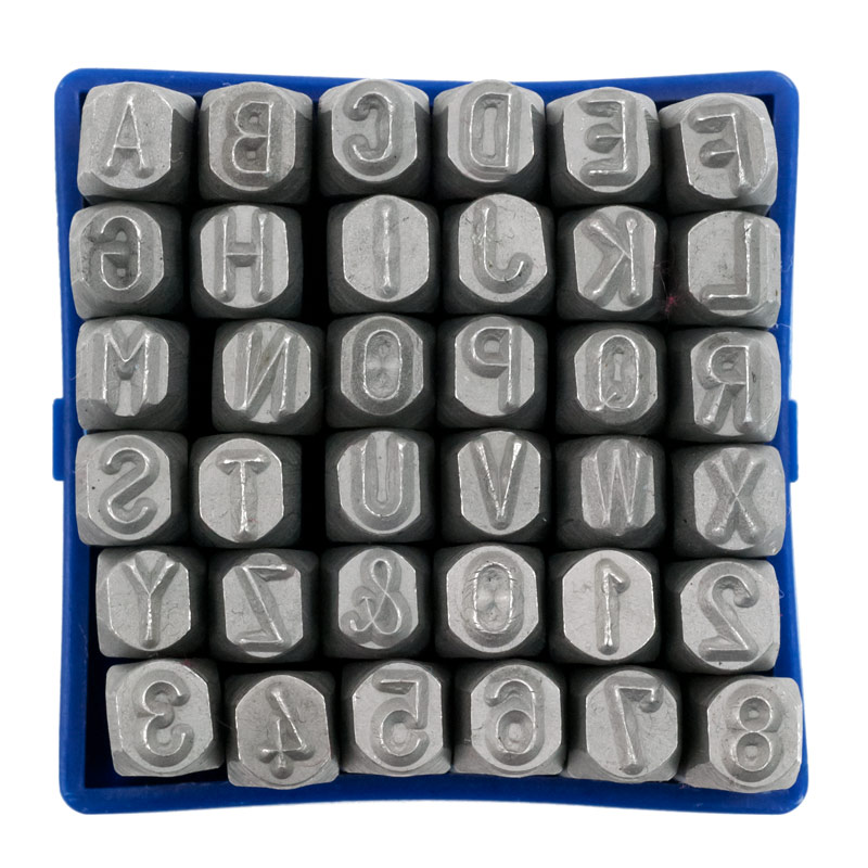 letter and number punch set 1 4 quot letters amp numbers punch set 21017 | pun10594 2 number and letter metal punch set