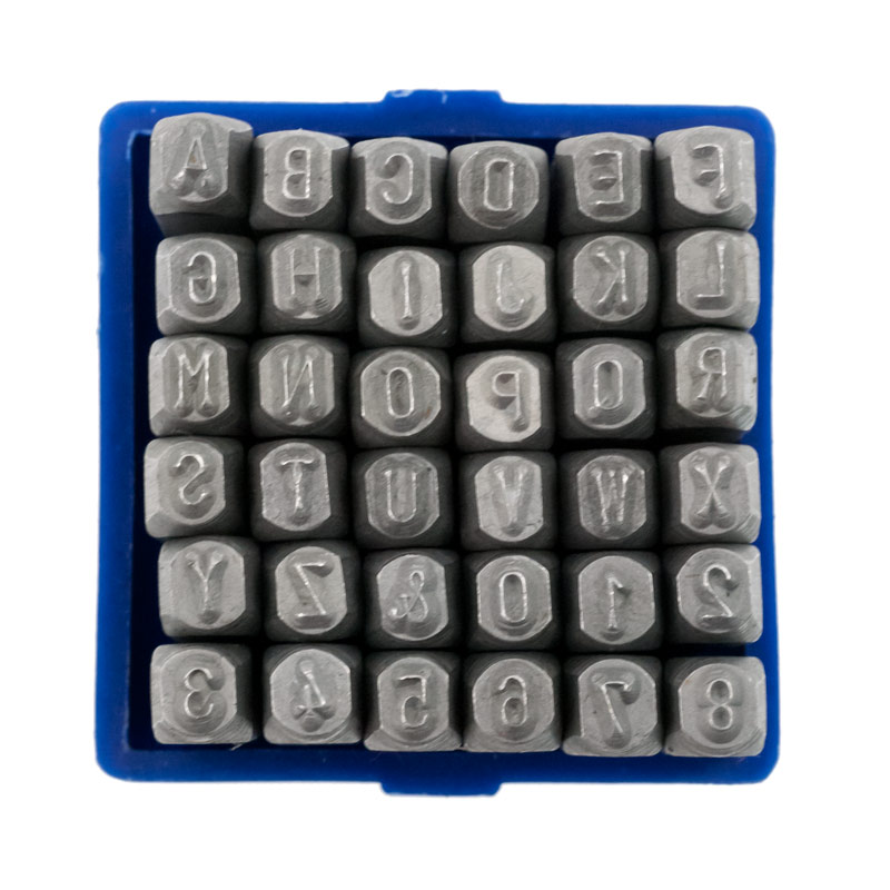 1 8quot letters numbers punch set With letter and number punch set