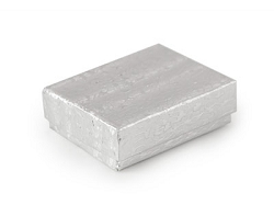 Silver Foil Cotton Filled Jewelry Box #11