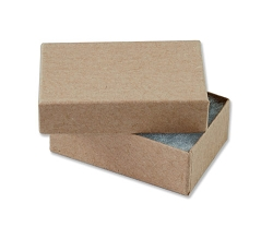 Kraft Paper Cotton Filled Jewelry Box #21