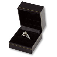 Ring Box Black Leatherette