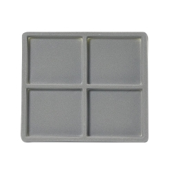 Flocked Jewelry Tray Insert 1/2 Grey (2x2)