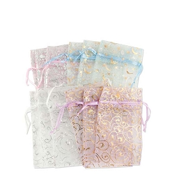 Organza Pouch 2x4 Pattern Mix (12-Pcs)