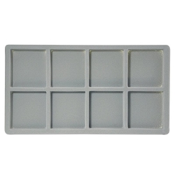 Flocked Jewelry Tray Insert (2x4) Grey