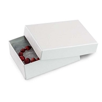 White Jewelry Gift Boxes Cotton Filled #32