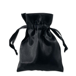 Satin Pouch 3 x 4 Black (10pcs)