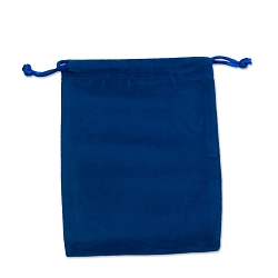Velveteen Drawstring Pouch Royal Blue (Size:  3