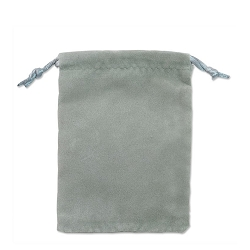 Velveteen Drawstring Pouch Grey (Size:  3