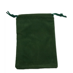 Velveteen Drawstring Pouch Hunter Green (Pouch Size: 3