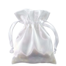 Satin Pouch 3 x 4 White (10pcs)