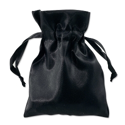 Satin Pouch 4 x 5.5 Black (10pcs)
