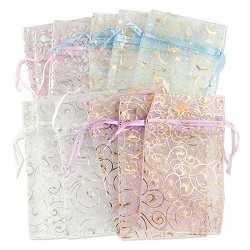 Organza Pouch 3x6 Pattern Mix (12-Pcs)