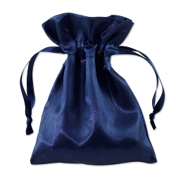 Satin Pouch 4 x 5.5 Navy (10pcs)