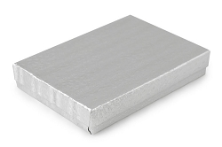 Silver Foil Cotton Filled Jewelry Box #53