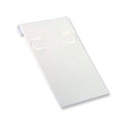 Earring Card 2x3 White Ribbed (50pcs)