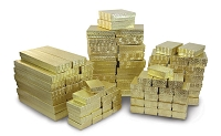 Jewelry Boxes Assortment Gold (Case of 100)