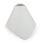 White Leatherette Foldable Necklace Cone Display