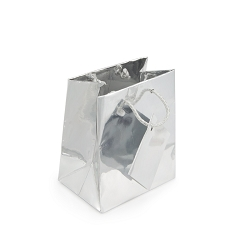 Tote Bag 3x3 Metallic Silver (20-Pcs)