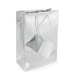 Tote Bag 4x6 Metallic Silver (20-Pcs)